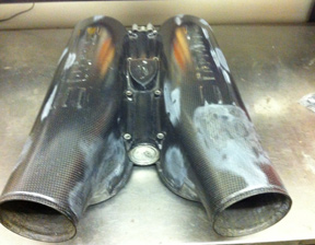 Ferrari F430 Carbon plenum repair